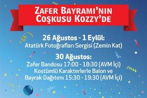 30 Ağustos Zafer Bayramı'nın Coşkusu Kozzy'de Yaşanacak