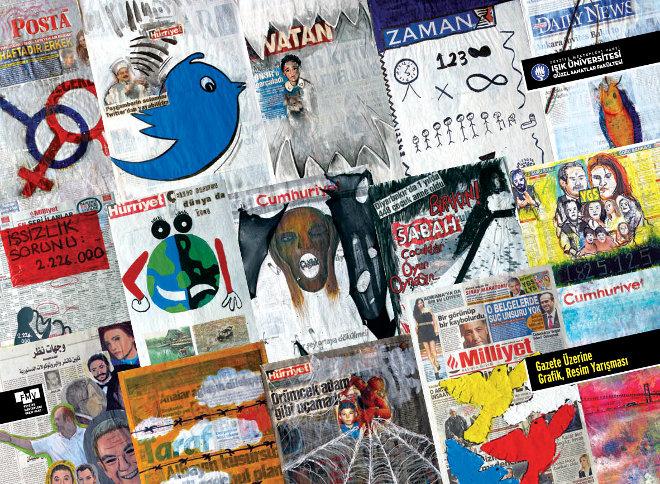 1. Ulusal Gazete Üzerine Grafik ve Resim Yarışması Sergisi