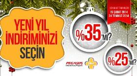 Pegasus Yeni Yılı yüzde 35'e Varan İndirimle Karşılıyor