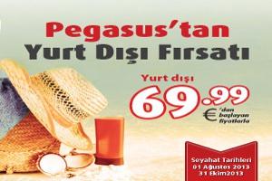 Pegasus, Yazın 69.99 Euro'dan Başlayan Fiyatlarla Yurtdışına Uçuruyor