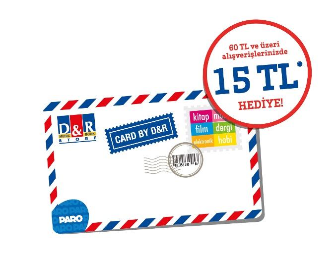 D&R Card 15 Tl. Kazandırıyor