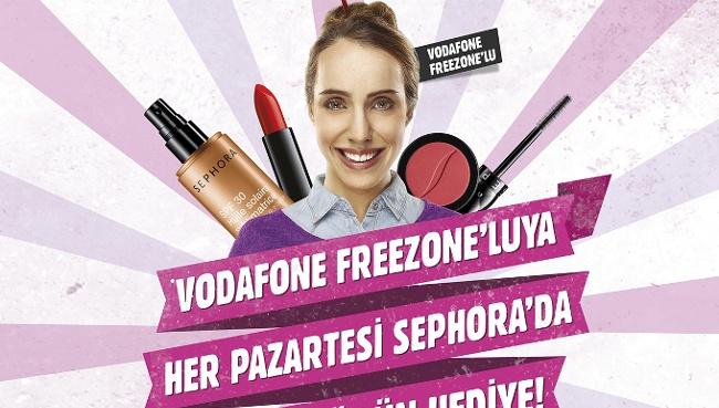 Vodafone FreeZone'lular Her Pazartesi Sephora'da!