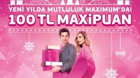 Yeni Yıl Alışverişlerine 100 TL Maxipuan Hediye