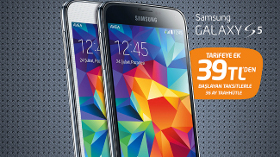 Avealılara, Samsung Galaxy S5 39 TL'den Başlayan Taksitlerle