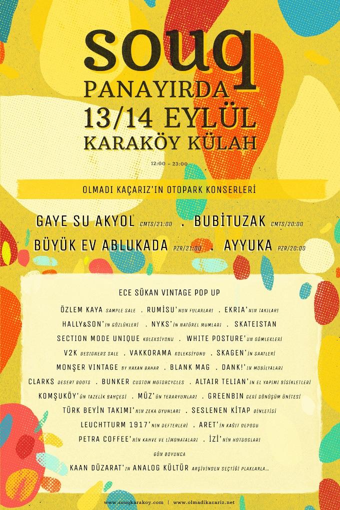 13-14 Eylül'de Souq Karaköy Panayırdayız!