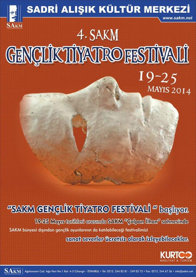 4.SAKM Gençlik Tiyatro Festivali Başlıyor