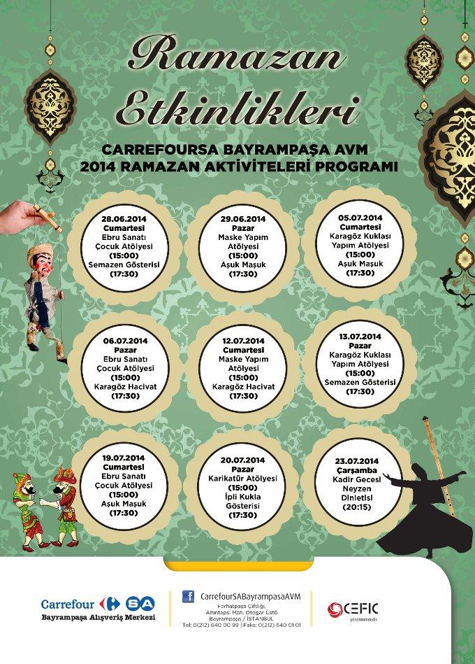 Carrefour İçerenköy Alışveriş Merkezi Eski Ramazanları Yaşatacak