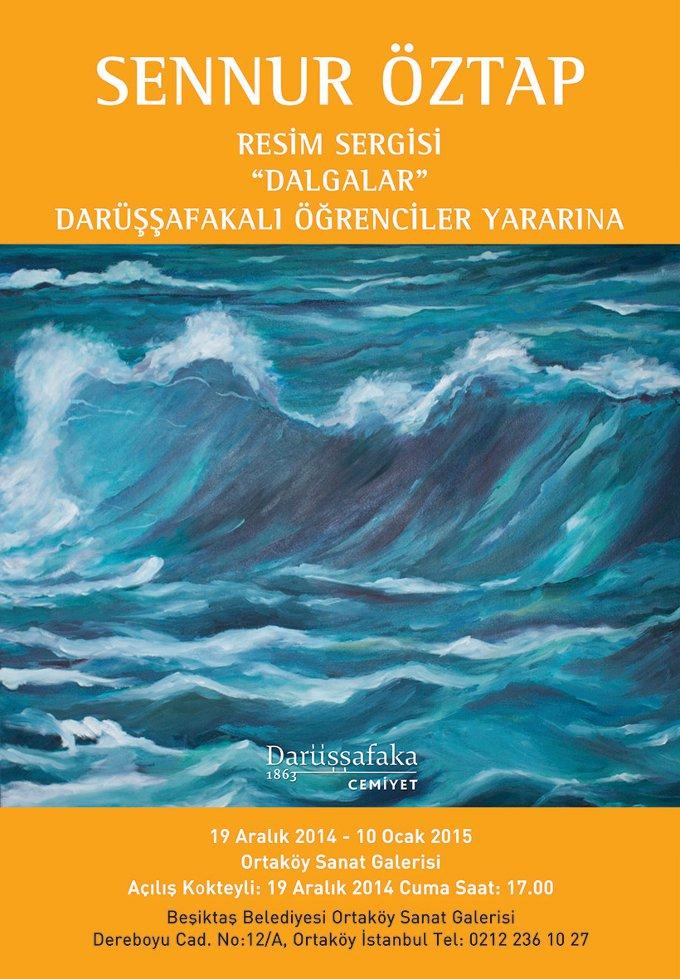 Ressam Sennur Öztap'tan Darüşşafaka Yararına Sergi
