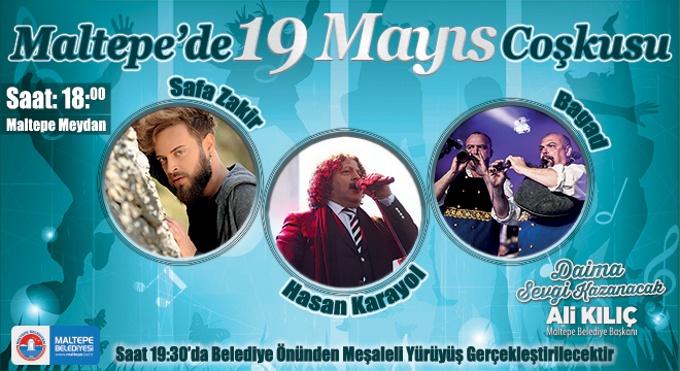Maltepe'de 19 Mayıs Coşkusu
