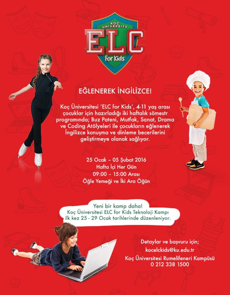 Koç Üniversitesi ELC For Kids Kış Programı Başlıyor