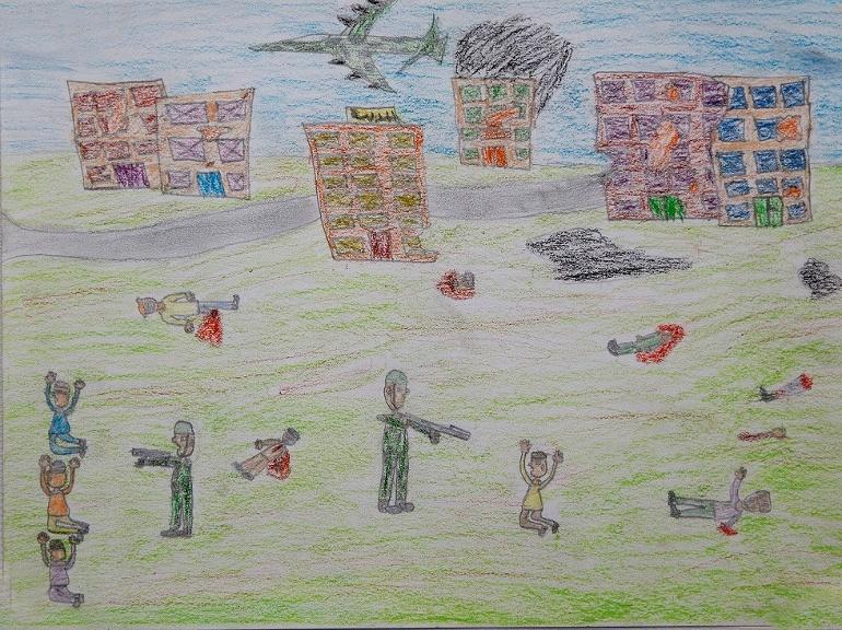 Suriyeli Savaş Mağduru Çocukların Resim Sergisi