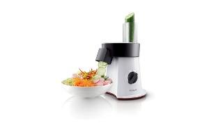 Philips'le En Güzel Salatalar Doğrayıcıdan Tabağa