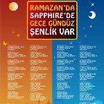 Geleneksel Eğlenceleriyle Ramazan, Sapphire Çarşı'da Dolu Dolu Geçecek