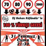 % 100 Türkçe Gecesi