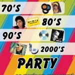 70`s 80`s 90`s 2000`s Party