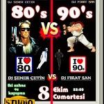 80'ler: DJ Şener Çetin VS 90lar: DJ Firat San
