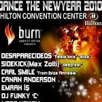 BURN Dance The New Year 2010 - Normal ve Vip