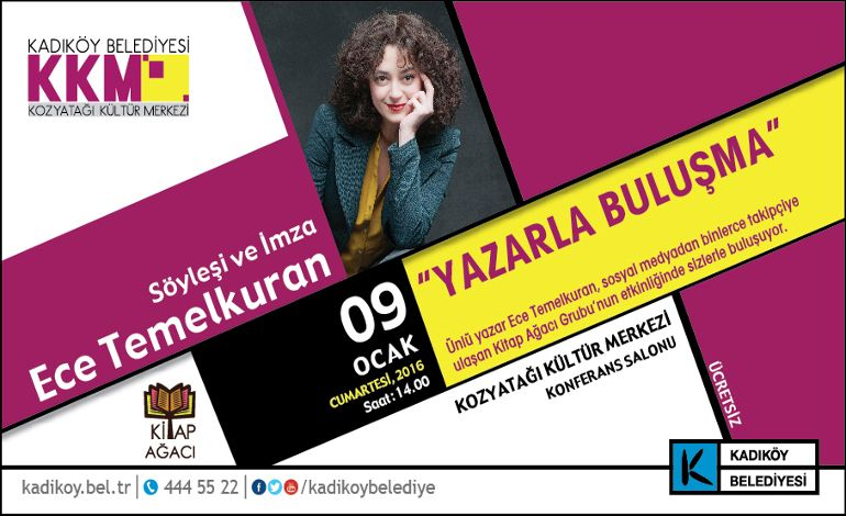 """Kadıköy'de Ece Temelkuran """"Devir""""i"""