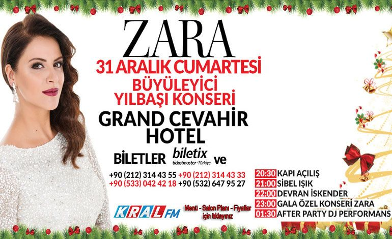 Zara Büyüleyici Yılbaşı Konseri