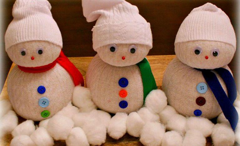 Çocuklar 'Çoraptan Kardan Adam' Tasarlayacak..