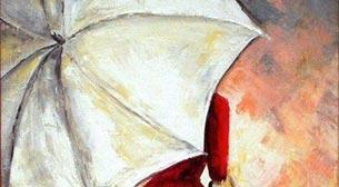 Yağlı Boya Workshop Şemsiyeli Kadın