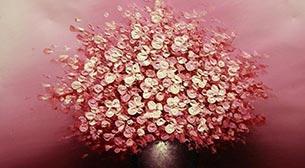 Yağlı Boya Workshop Pembe Çiçek 2