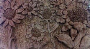 Seramik - Ayçiçek Pano