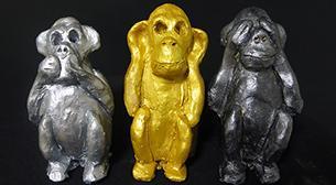 Masterpiece Heykel - Üç Maymun