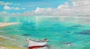 Yağlı Boya Workshop Kayıklı Deniz