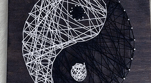 Masterpiece String Art - Yin Yang