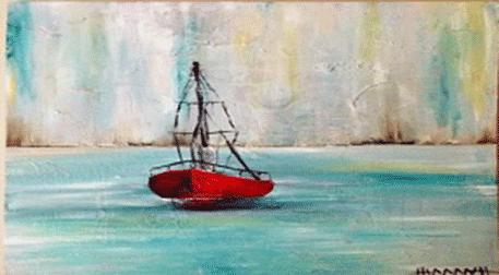 Yağlı Boya WORKSHOP! Kayıklı Deniz