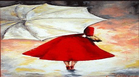 Yağlı Boya WORKSHOP! Şemsiyeli Kad