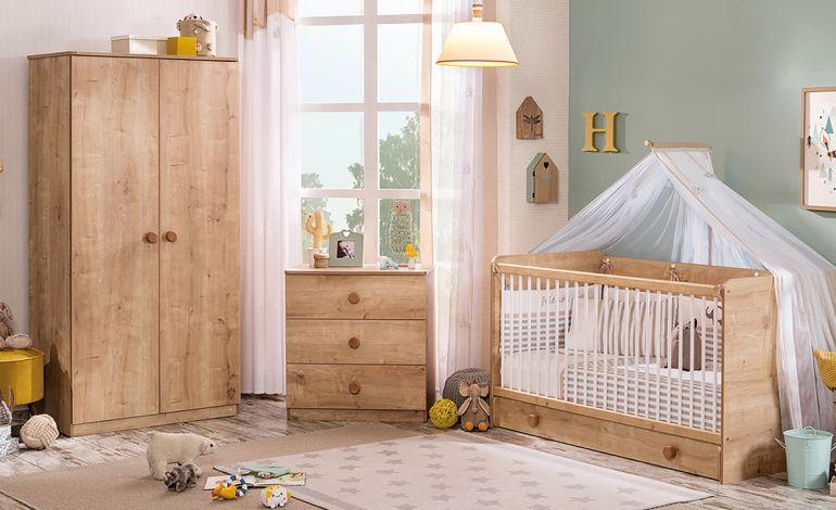 Ahşap Doğallığıyla Mocha Bebek Odası