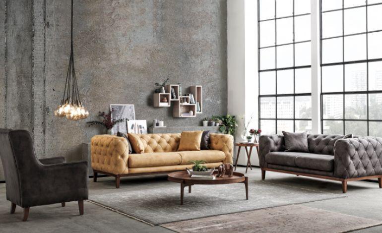 Tam Bir Sanat Eseri Lounge Salon Takımı