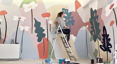 Çocuklar için Duvar Boyama Atölyesi