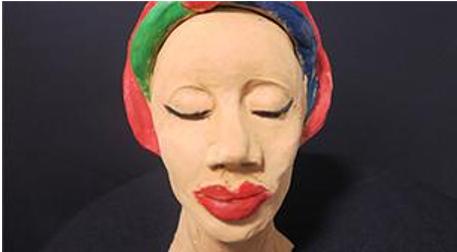 Heykel - Afrikalı Kadın Büst