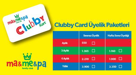 MaMePa Clubby Card Üyelik Paketleri