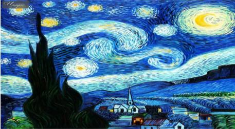 Tuval Boyama - Vang Gogh Yıldızlı G