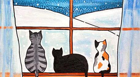 Masterpiece Galata Resim - Üç Kedi