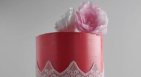 MSA-Kutlama Pastası; Dantel Şablon
