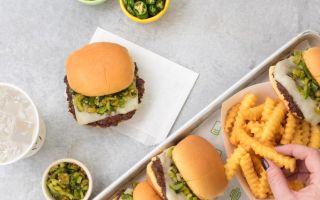 Shake Shack'ten Green Chili Cheddar Burger