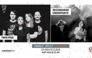 Twin Pigs (SE) & Secondhand Underpants // Heresy Albüm Lansmanı