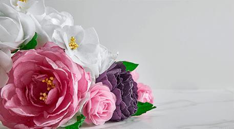 Yenilebilir Kağıt ile Çiçek Buketi