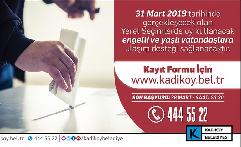 Kadıköy Belediyesi'nden Engelsiz Seçim Hizmeti