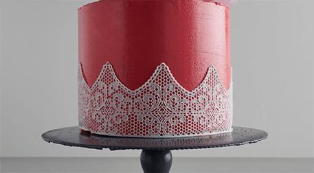 Kutlama Pastası; Dantel Şablon