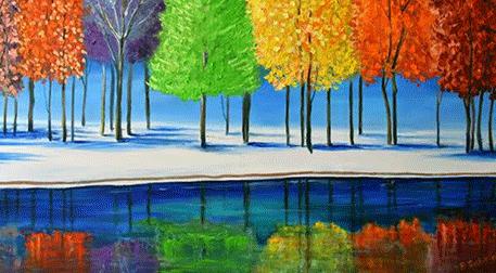 Masterpiece Moda Resim - Renkli Ağa