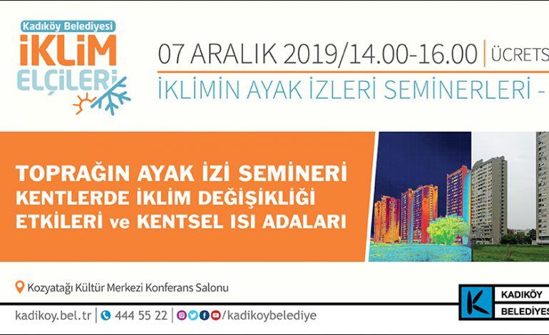 Kadıköy'ün İklim Elçileri, 'Toprağın Ayak İzi'ni Tartışıyor
