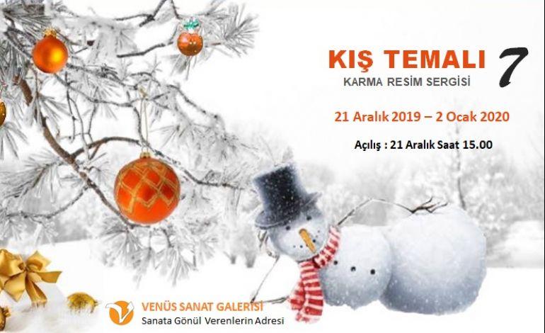 Kış Manzaraları Yılbaşı Partisi ile Venüs Sanat Galeride