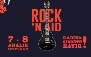 """Rock'n Aıd'den """"Kadına Şiddete Hayır"""" Konseri!"""