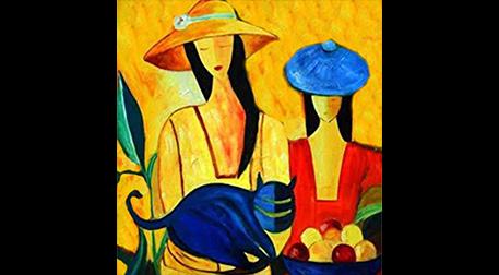 Masterpiece Maslak Resim -Mavi Kedi